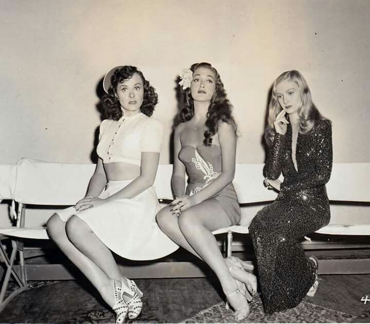 Paulette Goddard, Dorothy Lamour e Veronica Lake - 1942