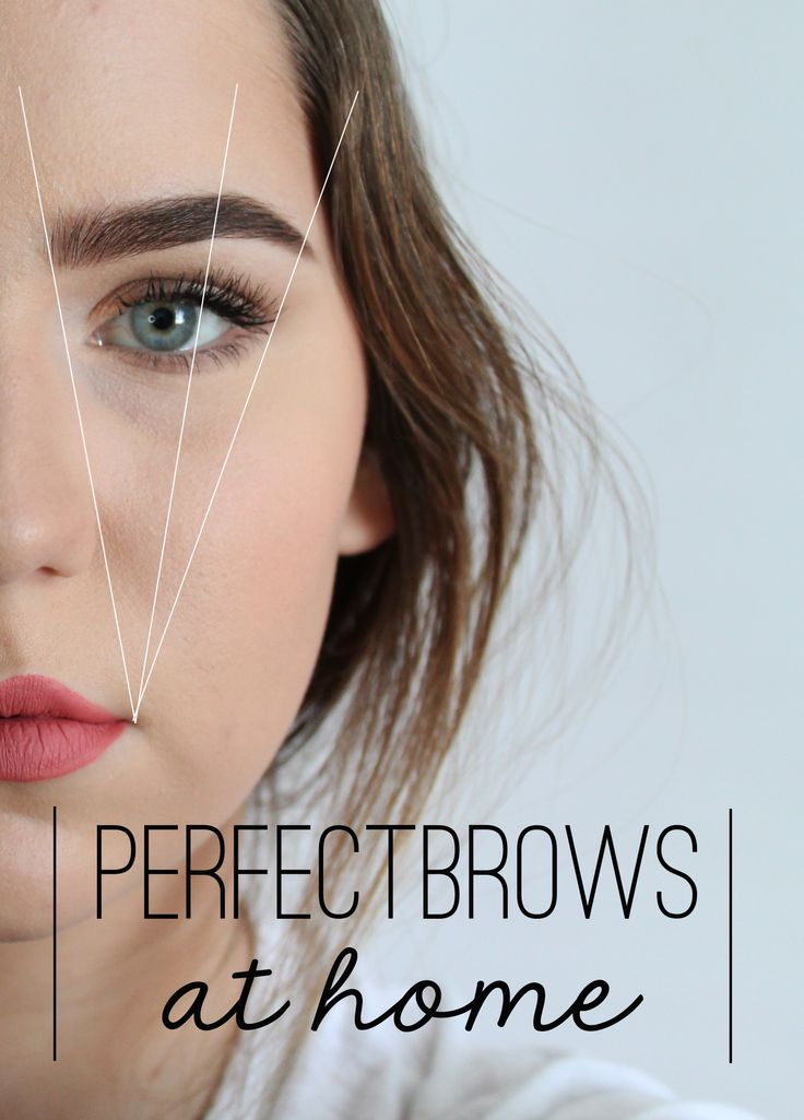 How to perfectly shaped and filled in brows at home