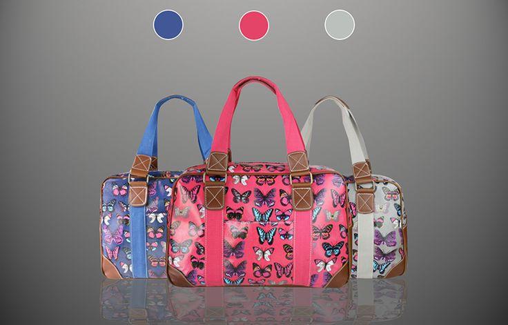 Miss Lulu Female Business Handbag - Butterfly style