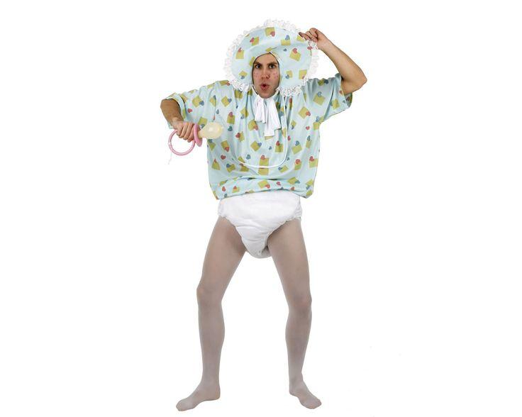 #Bebe Disfraz de Bebe Lloron  El disfraz incluye: Gorro, camisa y pañal  Composición: Punto http://www.disfracessimon.com/disfraces-originales-divertidos/3338-bebe-con-panales.html