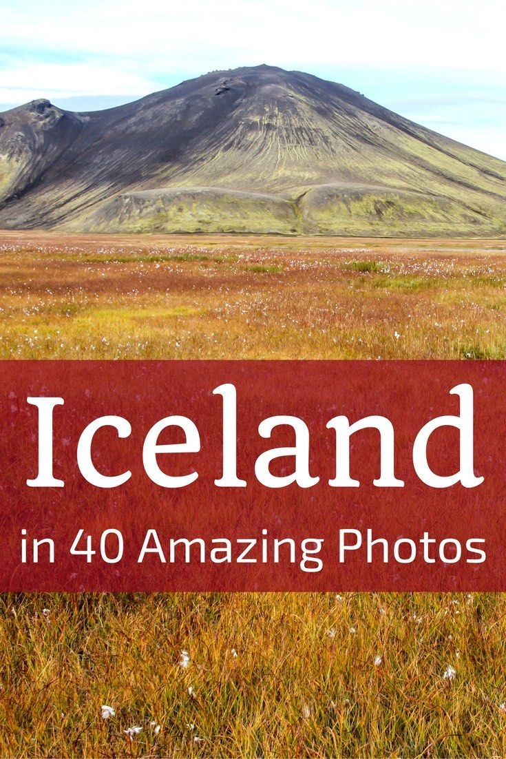 Discover what Iceland Travel looks like with 40 amazing pictures of the Iceland Landscapes - from icebergs to geysers, from glacier to volcanoes... Explore the fire and ice around the island. Includes many of the things to do in Iceland: Skogafoss, Godaoss, Jokulsarlon, Myvatn, Snaefellsnes as well as off the beaten track locations