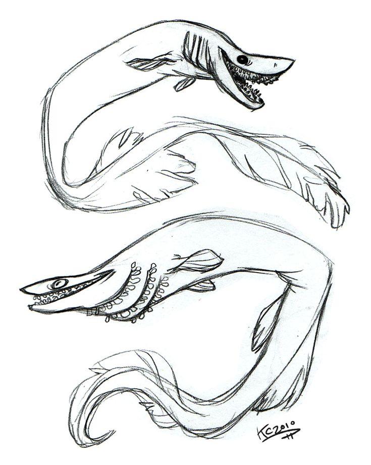 frilled shark by polarkeetdeviantartcom on deviantart