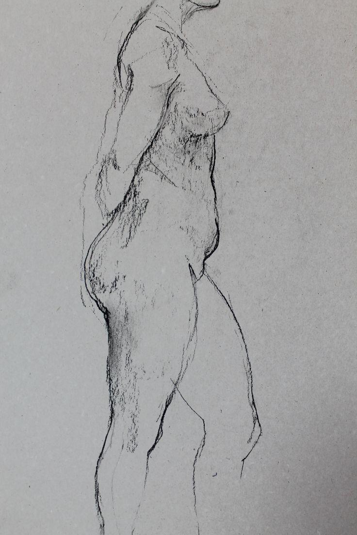 Титенков Владислав. Набросок обнаженной фигуры. А3.2014 (фрагмент) Titenkov Vladislav. Sketch of a nude figure. A3.2014 (detail)