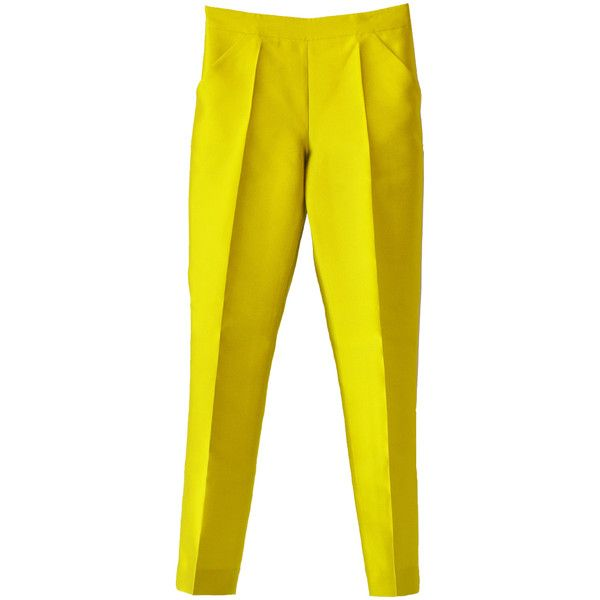 Ter Et Bantine Mustard Trousers (12.880 RUB) ❤ liked on Polyvore featuring pants, trousers, bottoms, pantalones, straight leg pants, mustard yellow pants, pocket pants, mustard pants and yellow pants