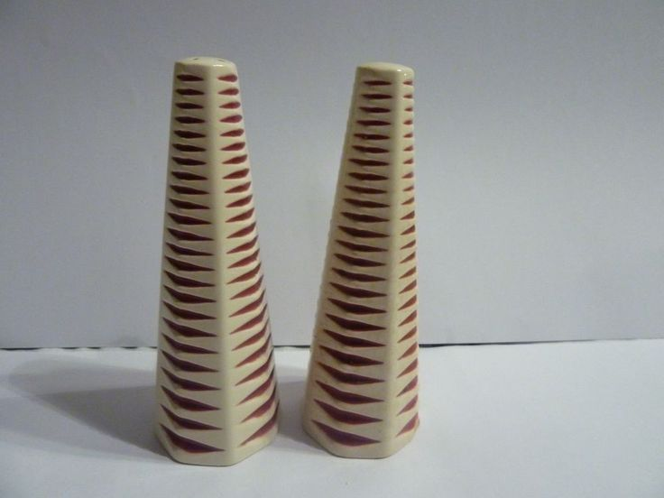 Vintage Hornsea pottery John Clappison Salt and Pepper Cruet 1960 s