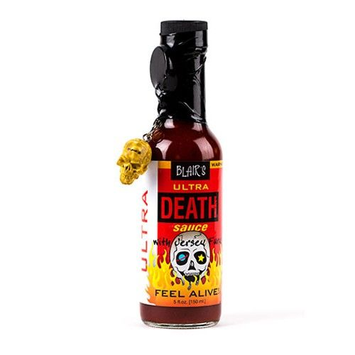 #Sauce Blair's Ultra Death : Celui qui n'a jamais goûté une Ultra Death ne sait pas ce que signifie #extrême ! Cette sauce est dans le top 5 des sauces les plus #fortes du site et même du monde. Elle se caractérise par des notes #fumées, et une incroyable violence ! A #hot sauce so #insane, it's igniting the top of our heat meter. The sinister swirl of #habanero, #cayenne, #serrano, and #jolokia #unleashes undeniable #flavor filled with unfathomable #fire. This sauce is the #real #deal!!