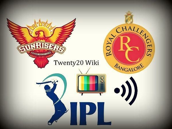 Watch live streaming of Sunrsiers Hyderabad vs Royal Challengers Bangalore IPL match-1 on 5 April 2017. Get SRH vs RCB 1st match live telecast, score.