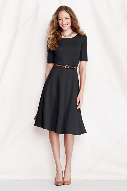 jewelry store online Women     s Elbow Sleeve Pont   A line Dress
