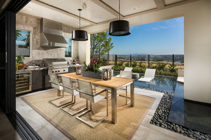 Toll Brothers The Serrano Luxury Outdoor Living Space Luxury Kitchen Design Outdoor Living Room Outdoor Living