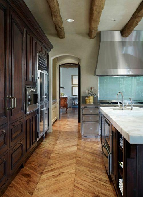 Wonderful Holzboden In Der Küche Parkett Zick Zack