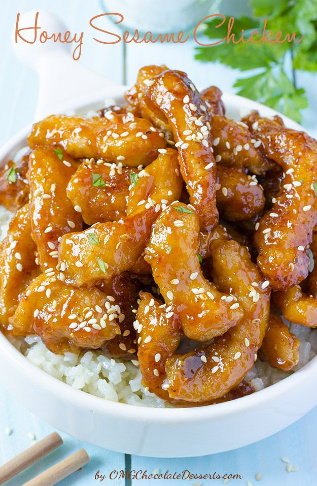 Honey Sesame Chicken OMG YUM!!  Everyone liked this recipe. Will definitely be adding this to my Tried-n-True recipe box.