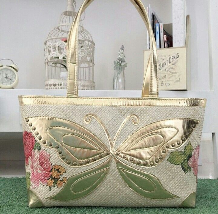 Butterfly Painting - Woven Bag