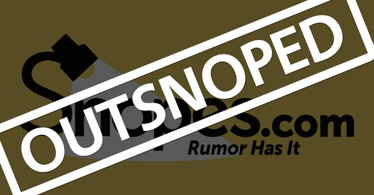 Snopes has been snoped