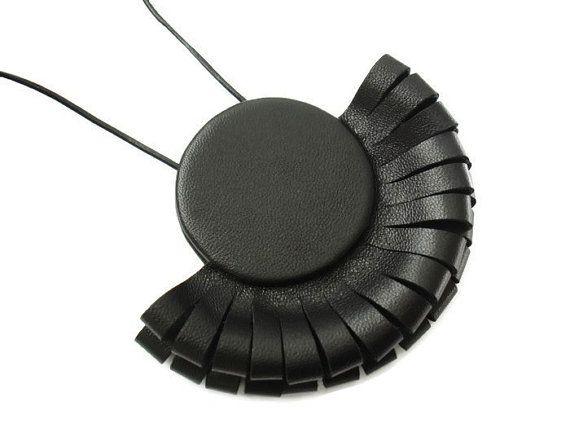 Leather Necklace Leather Jewellery Statement Necklace by SartoJ, £48.00