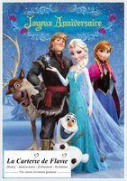Carte anniversaire Disney  La Reine des Neiges - Frozen La Carterie de Flavie  vos cartes & invitations livraison gratuite http://lacarteriedeflavie.com/