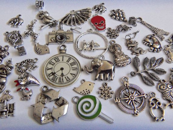 Mixed Charm Lot Huge 40 Piece Wholesale Lot by TMSupplyShop, $10.00