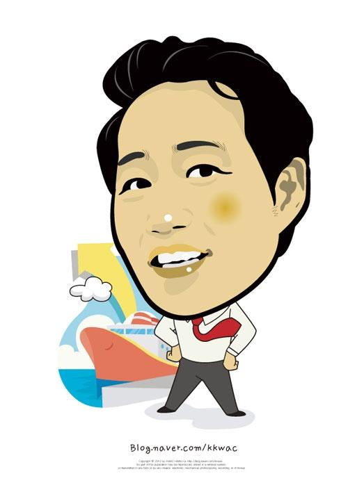 미래의 글로벌 무역상과 동행합니다. 꽉샘의 캐리커쳐 인물열전(017) 일본창업연구소 임동근 소장. Mr. Lim Dong Keun