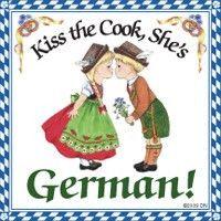 German Gift Idea Magnet (Kiss German Cook)