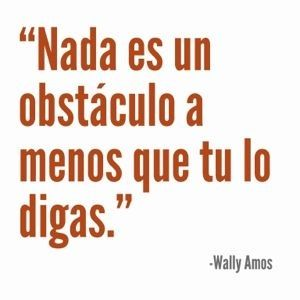 Wally Amos señala con esta cita a una de las mayores dificultades a las que las personas se enfrentan. El dar categoríade obstáculos a aquellas situaciones que se les presentan. Definir algo como ...