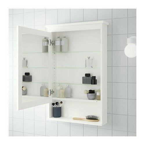 IKEA ミラーキャビネット 扉1枚付き, ホワイト, 63x16x98 cm ¥ 14,990