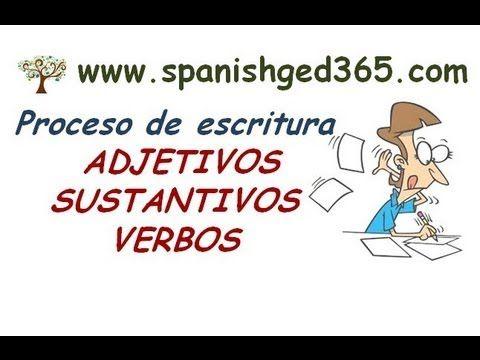 -Learn parts of speech in SPANISH!!! -Proceso de escritura, sustantivos, adjetivos y verbos. - YouTube