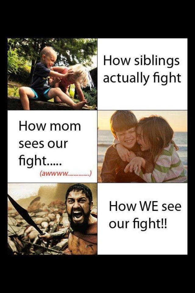 My son sent me this...so true!! :): Sister, Sotrue, Truth, So True, Funny Stuff, Funnies, Siblings