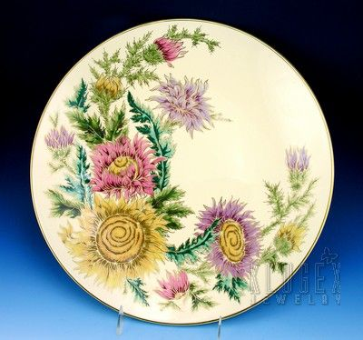 Huge Hand-painted Zsolnay Wall-plate - Signed