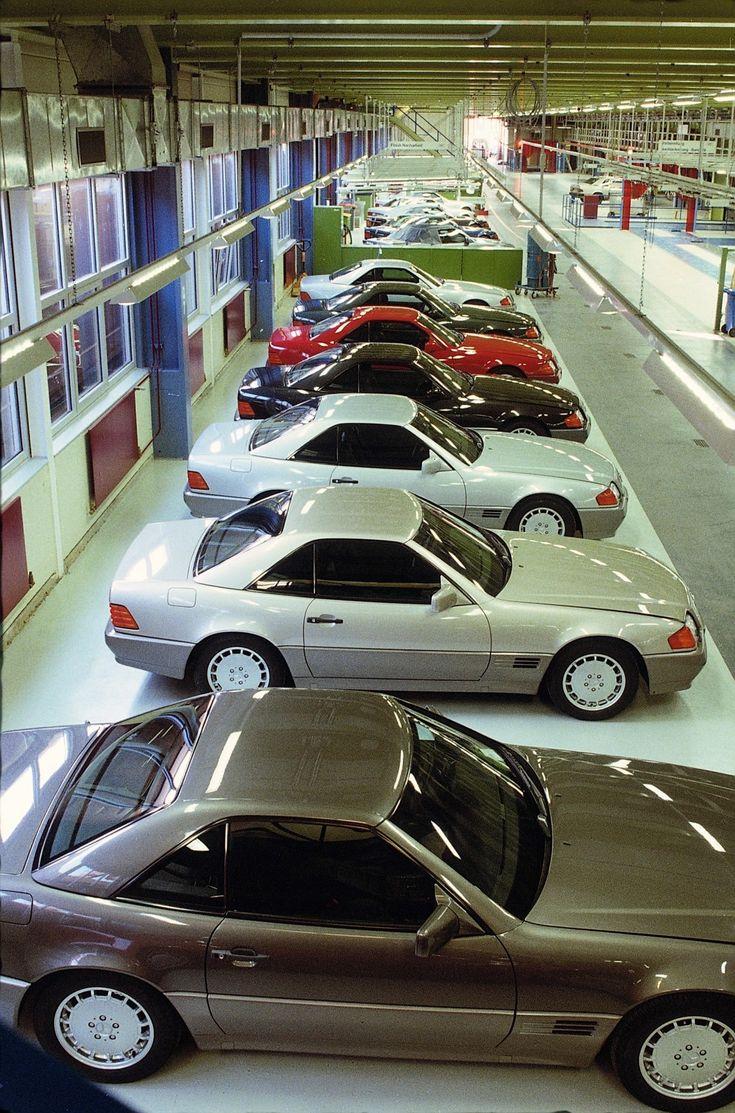 Luxury caravan with full size sports car garage from futuria - R129 Sl Class