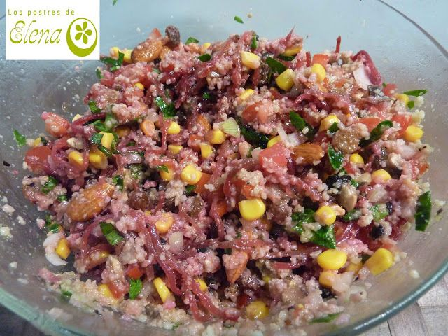 #Ensalada de #cuscús con #espinacas #Recetas #Recipes #Vegetariana #Vegetarian #Vegana #Vegan #Tenerife #Canarias #España
