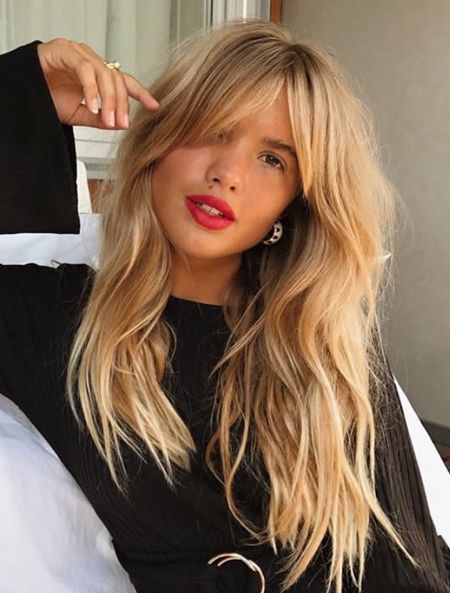 Curtain Bangs Hairstyles Ideas For Spring 2018 Long Fringe Hairstyles Hair Styles Long Hair