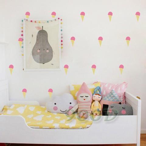 Ice Cream Wall Stickers. Nursery Decor Sweets Trend