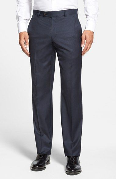 Ted+Baker+London+'Jefferson'+Flat+Front+Wool+Trousers+available+at+#Nordstrom