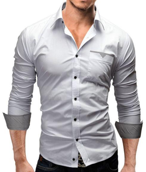 Shopjmix -  Moda masculina online - Camisa social slim fit - CAMISA SOCIAL BRANCA