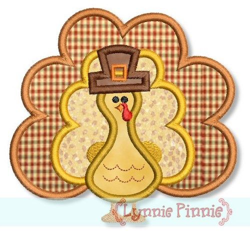 Embroidery Designs - Turkey Applique 4x4 5x7 6x10 - Welcome to Lynnie Pinnie.com! Instant download and free applique machine embroidery designs in PES, HUS, JEF, DST, EXP, VIP, XXX AND ART formats.