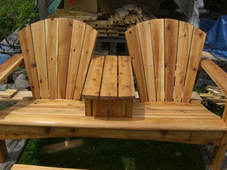 Double Adirondack Chair With Table Plans Woodworking