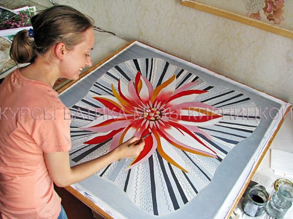 Курсы батика Музы Кирницкой / Silk painting workshops / батик, курсы батика, шелк, роспись по шелку, silk painting, batik, hand painted silk, silk painting workshop. http://www.gifts.batik-gallery.com.ua/?action=issue-show-108