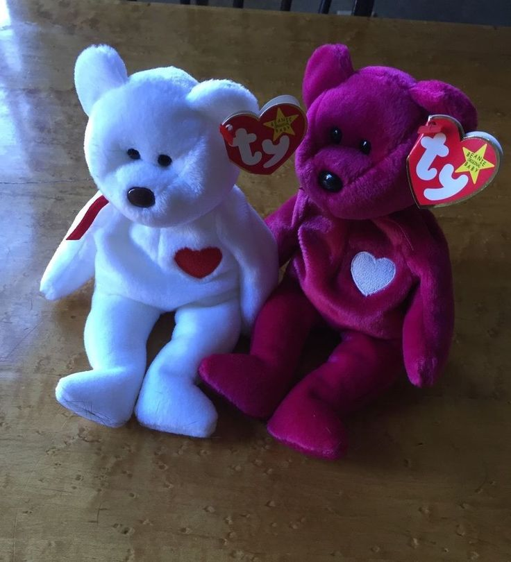 VALENTINA AND VALENTINO Ty Beanie Baby MINT WITH MINT TAGS #TYBeanieBabies