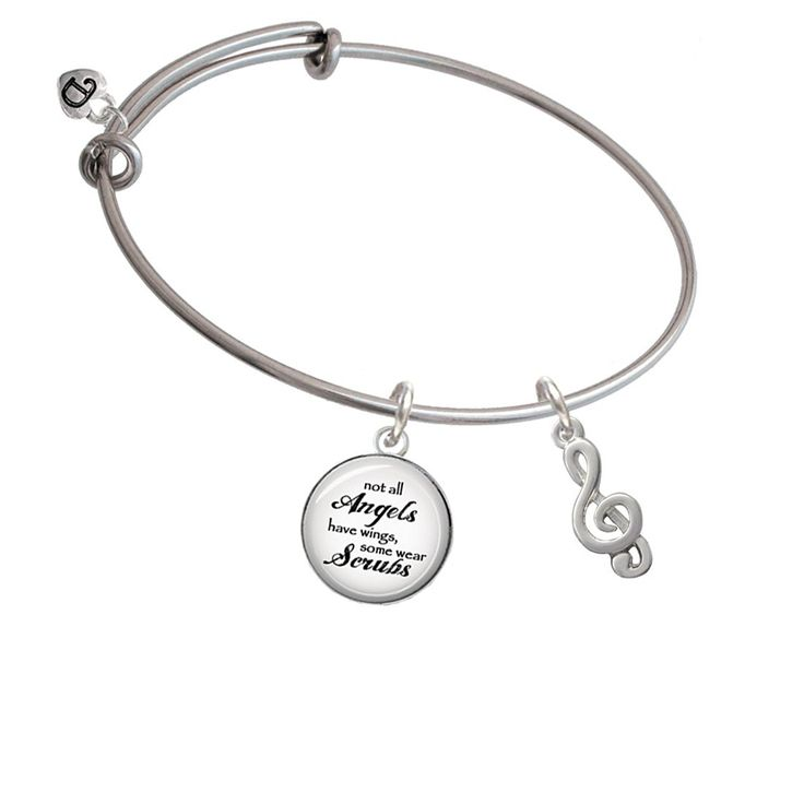 Clef Angels Wear Scrubs Bangle Bracelet *** You can get additional details at the image link. (This is an affiliate link and I receive a commission for the sales)