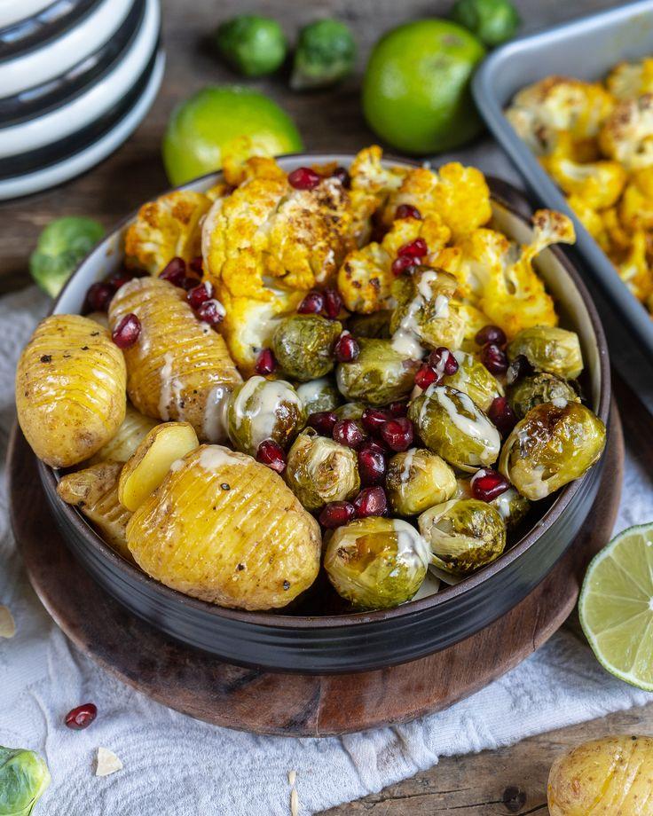 Gesundes Gemüse und Kartoffeln aus dem Backofen