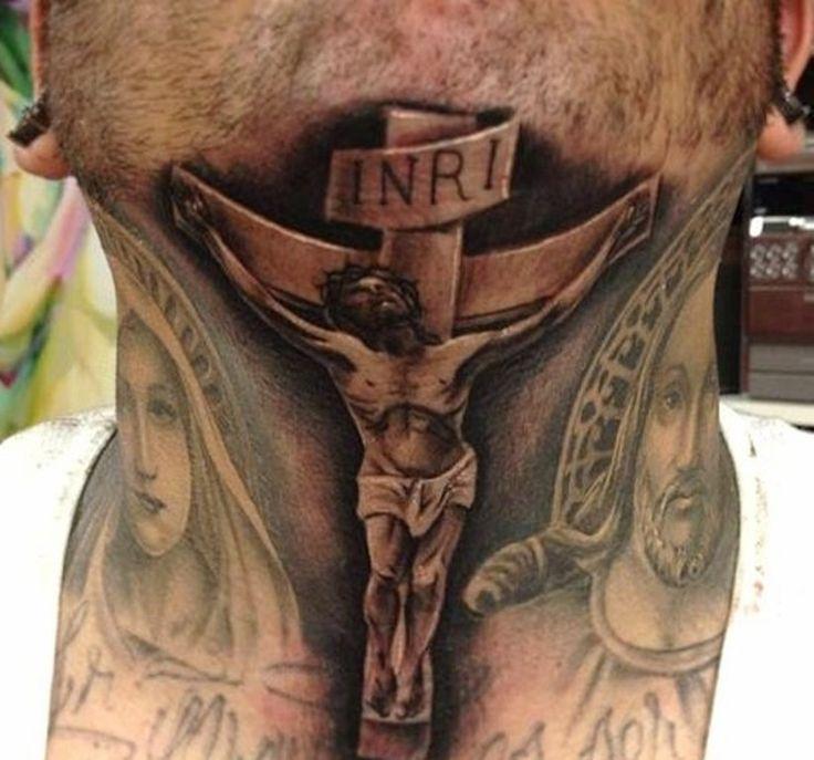 Crucifix Tattoo Neck