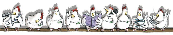 Angela Kommoß Illustration : ...von Hühnern und Dinos