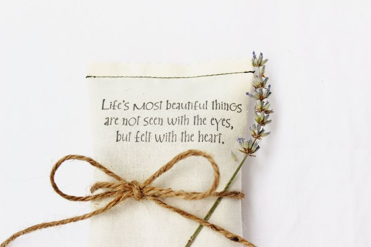 unique bridal shower favor love quote lavender sachet