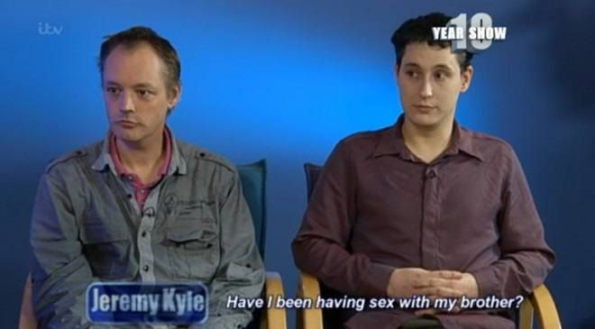 Two men in a gay relationship, and who had plans to marry, have discovered that they are actually brothers. The pair, named Paul and Lee, appeared on theJeremy Kyle Showto have a DNA test after L...
