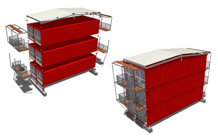 Tempohousing - building with containers - Hersteller