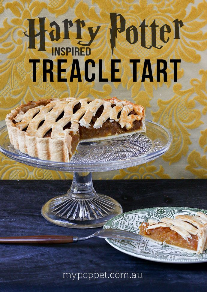 4 Ingredient Treacle Tart A Harry Potter Inspired Recipe My Poppet Living Recipe Treacle Tart Easy Tart Recipes Tart Recipes