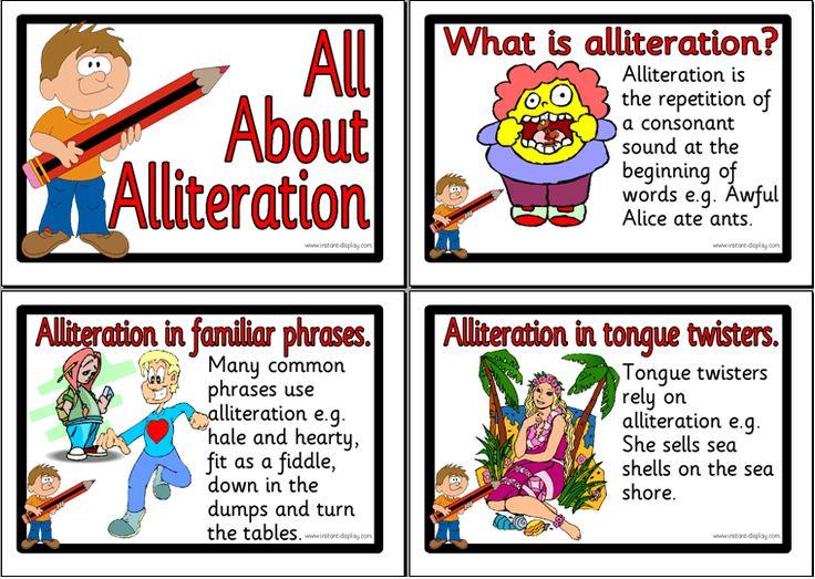10 Best Alliteration Images On Pinterest Handwriting Ideas