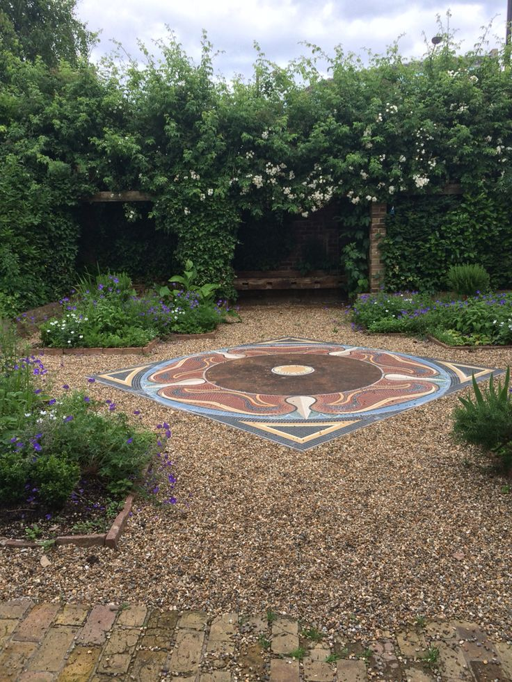 Courtyard garden at Epping Forest District Museum in Waltham Abbey, Essex