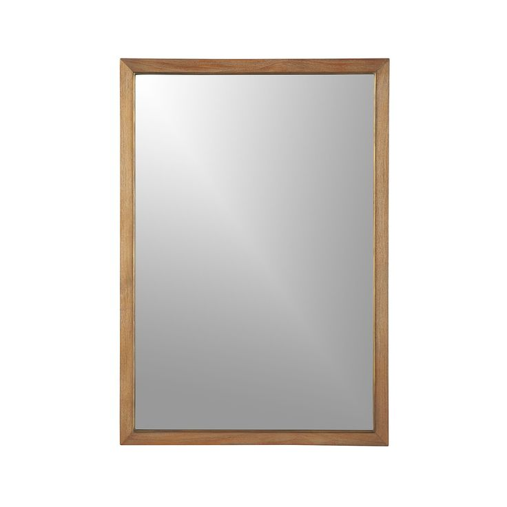 Blake Grey Wash Rectangular Wall Mirror | Crate and Barrel