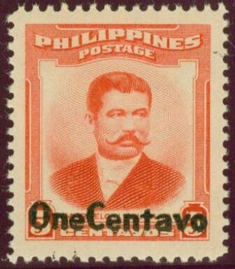 1959, January 11.  Marcelo H. del Pilar Surcharged (Definitive & Official) 1952 M.H. del Pilar Overprinted in Black; 1c on 5c - Singles, Sheets of 100.