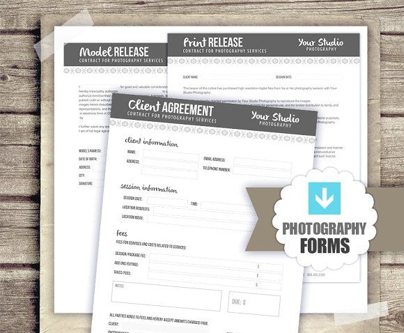 3 Photography Forms Templates - PSD @Graphicsauthor